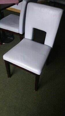 Restaurant dining leather upholstery chair, coffee shop chair, bistro chair.