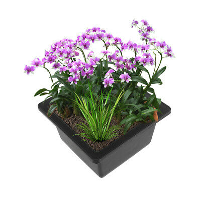 Pot de fleur Imitation En Plastique Balcon Rectangulaire Bonsai Bol Bassin