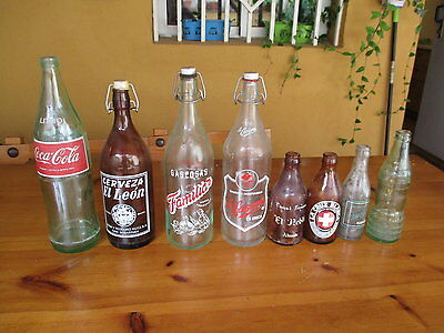 Sammeln von Glasflaschen Alt / Collection Of Antique Glass Bottles
