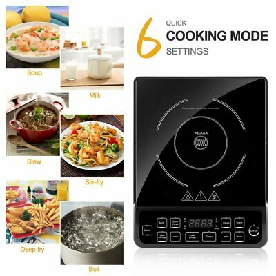 1800W Burner Electric Cooktop Induction Cooker Portable Touch Panel Ceramic TN