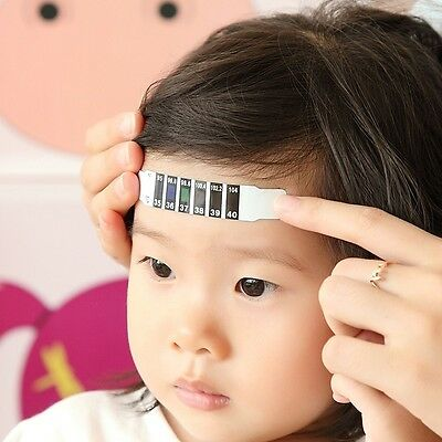 Kids Baby Forehead Strip Head Thermometer Fever Body Temperature Test Practcial