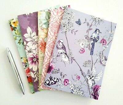 Beautiful Flowers A5 Notebook Notepads | Journal Diary Jotter Pad | Plain Pages