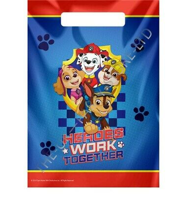 PAW PATROL PARTY LOOT BAGS Birthday Party Supplies Boys Gift Pack Party Kids