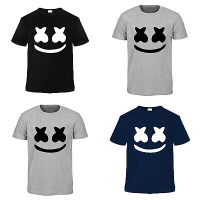DJ Marshmellow Trance Printed T-shirt Crew Neck Men's Summer Short Sleeves Tees