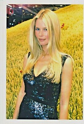 Claudia SCHIFFER Photo Presse Originale  CAR SHOW PARIS 2000