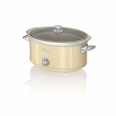 Slow Cooker - Swan SF17031CN 6.5 Litre Retro with Removable Ceramic Pot