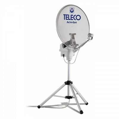 Teleco Activ Sat 65T Twin vollautomatische Sat Anlage 65cm mobil Camping Stativ