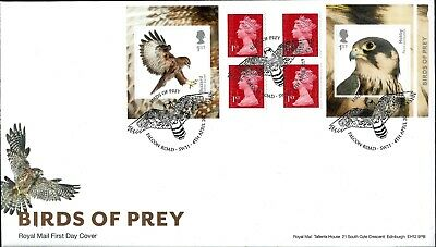 Gb 2019 Fdc Birds Of Prey Stamps Retail Booklet Pm66 & Very Fine Used Stamps