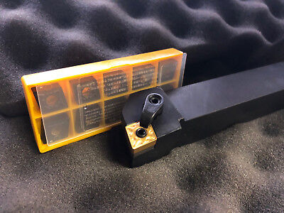 """FREE LATHE TOOL HOLDER WITH KENNAMETAL CNMG120408 RU 1204 Carbide Inserts 5/8"""""""