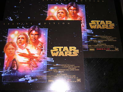 4 Small Original Promotional Posters - Star Wars - Special Edition