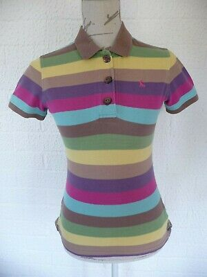 Ladies JOULES polo shirt - striped - size 10
