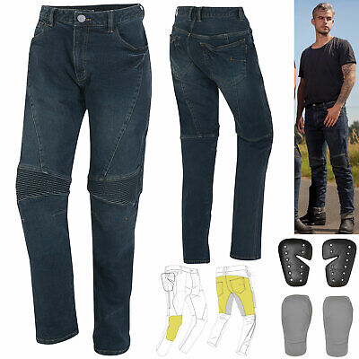 GERMOT Motorradjeans JOE Herren Slim-Fit Aramid Used-Look Protektoren Gr. 36/32
