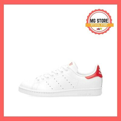 finest selection d01bc 310d4 Adidas Stan Smith Bianco Rosso M20326 Scarpe Shoes Sneakers Donna Uomo Man  Woman