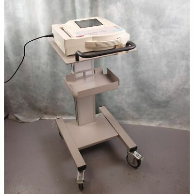 GE Marquette Microsmart MAC 1200ST ECG Machine on trolley with leads