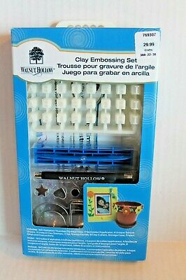 Walnut Hollow Clay Embossing Set 769307 Tools & Number / Alphabet Stamps NEW