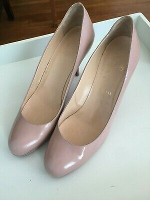 big sale 3bc0c 5b027 CHRISTIAN LOUBOUTIN SIMPLE Creme Patent Red Sole Pump - Size 40 with 3.75