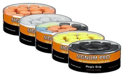 Signum Pro - Magic Grip - Tennis Overgrips 0.75mm - Box of 30 - Different Colors