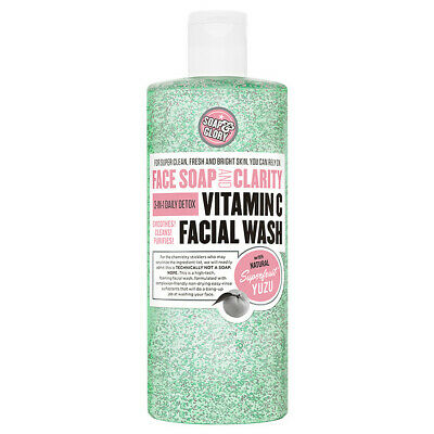 BRAND NEW Soap & Glory Face Soap Clarity VITAMIN C Facial Wash 3in1 DETOX 350ml