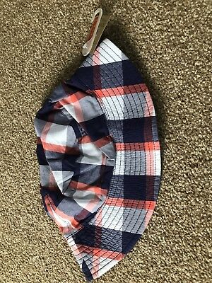 Joules Navy Check Hat, Bnwt, Size M/L