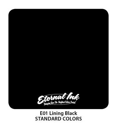 Tinta tattoo Eternal Lining Black 30 ml (original)