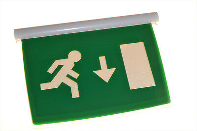 20 x Emergency Exit Direction Signs Running Man Legend Cooper Menvier SEDS New