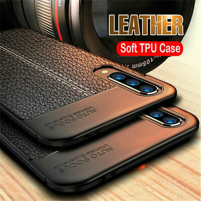 For Xiaomi Redmi Note 7 Pro 6 Shockproof Rubber TPU Soft Leather Back Case Cover