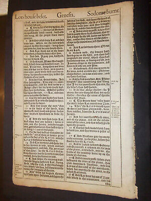 5-RARE-King James Version-Bible Leaves-1611/1612/1613/1613/1616-Over 400 yrs Old