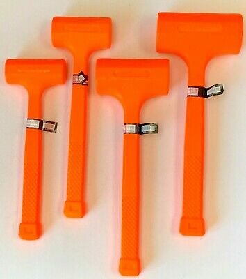 1, 2, 3, 4 LB Dead Blow Hammer, Neon Orange, Spark and Rebound Resistant