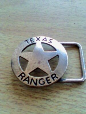 nos VINTAGE TEXAS RANGER STAR BELT BUCKLE  FREE  SHIPPING
