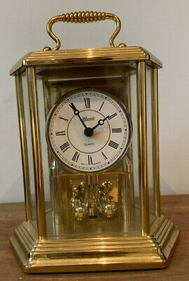 Hermle Skeleton Carriage Clock - Mantel / Table Clock Quartz - Nice Condition