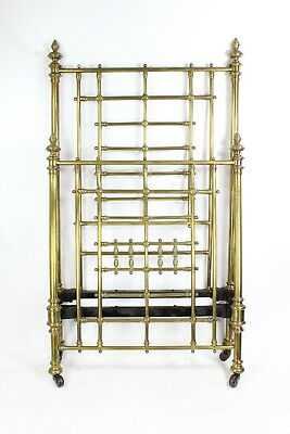 Antique Victorian Brass Single Bed by Shoolbred - Vintage Brass 3FT Bedstead