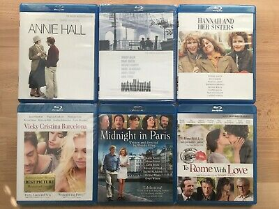 Woody Allen Blu-Ray Lot of 6 Annie Hall Manhattan Hannah and Her Sisters +More