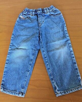 Boys Blue Denim Diesel Jeans Size 2 Age 2 Years Straight Leg B43