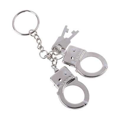 Fashion hot new key chain keychain handcuffs ring metal key holde LE