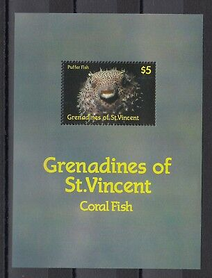Timbre Stamp Bloc Grenadines St Vincent Y&T#19 Poisson Neuf**/Mnh-Mint 1987 ~B72