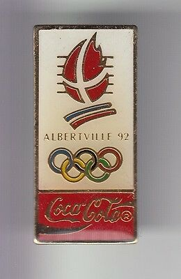 Rare Pins Pin's .. Olympique Olympic Albertville 92 Coca Cola Vertical N°3  ~17