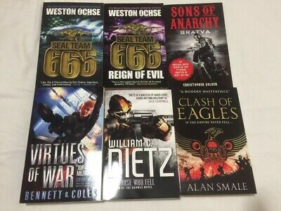 6 Sci-Fi Fantasy Military Fiction Books - Sons Of Anarchy Seal Team 666 - Dietz