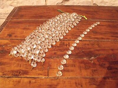 Vintage French Glass Droplets Beads Chain Chandelier Parts x 1
