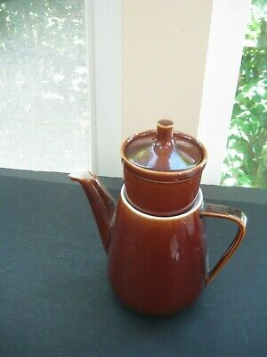 VINTAGE Villeroy & Boch TEAPOT TOAST BROWN  WITH INFUSER  # 5 LUXEMBOURG