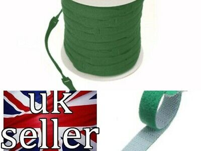 VELCRO Brand Cable Ties One Wrap Double Sided Straps in GREEN  25mm x 300mm