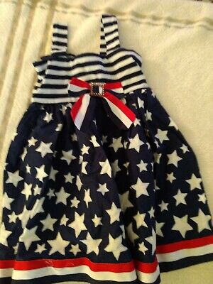 6a2e76a50e5 Youngland Toddler Girl s Size 3T Patriotic July 4th Stars Stripes Summer  Dress