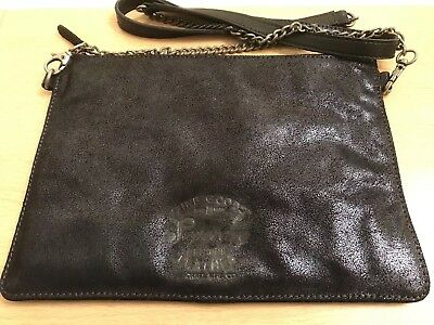 Superdry Unique Sample Diane Metallic Clutch Bag - Navy Metallic BNWT