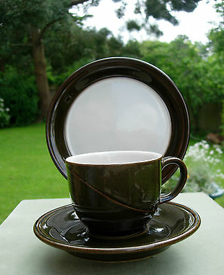 Denby Parisienne Trio (Tea Cup, Saucer and Plate ) - Olive Green