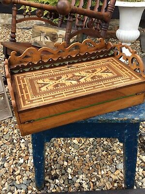 Fantastic Tunbridge Ware Inlaid Writing Slope Box Writing Boxes