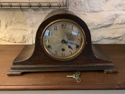 westminster chimes mantel clock - napoleon hat design(Estimated to be 1930's)