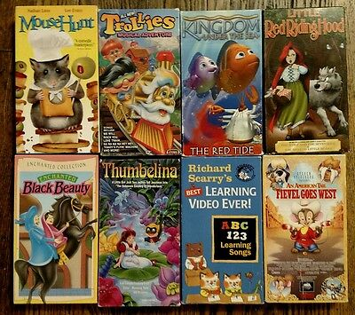 Lot of 8 VHS Tapes for Children