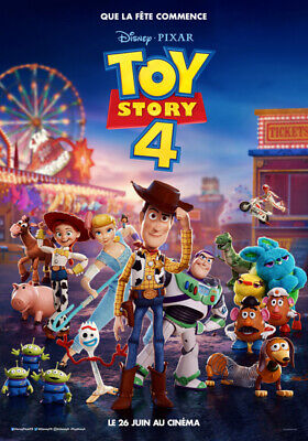TOY STORY 4 Disney - Affiche cinema 40X60 - 120x160 Movie Poster