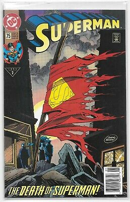 The Death of Superman! DC COMICS January 1993 #2 issue 75 Jurgens & Breeding