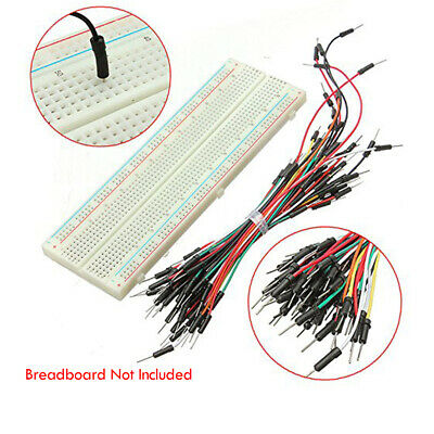 65x Solderless Flexible Breadboard Jumper Cables Wires Lead Security Accessories