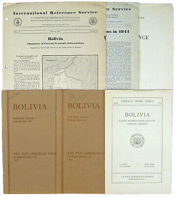 Small Collection of Six Publications on Bolivian Trade and Finance: 1932-1946.